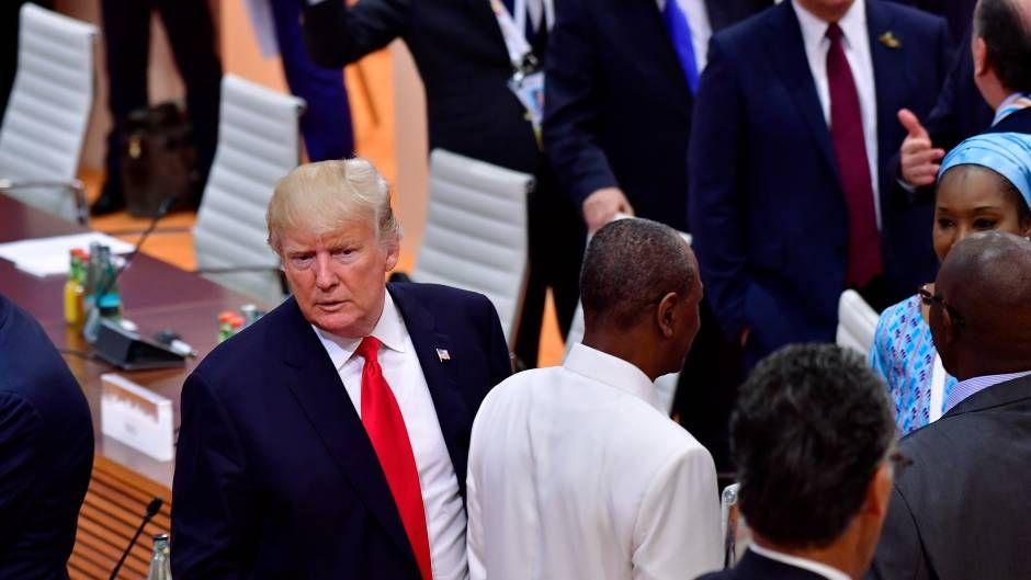 Der einsamste Präsident des G20-Gipfels Während auf Hamburgs Straßen ...