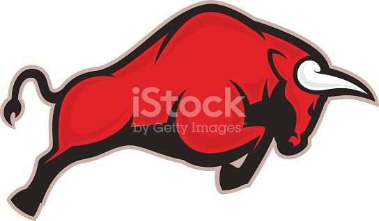 clipart picture of a charging bull cartoon mascot logo character rh pinterest com red bull logo clipart