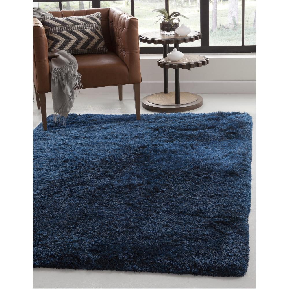 Sams Gold Imports Luxe Shag Blue 5 Ft X 8 Ft Area Rug Area