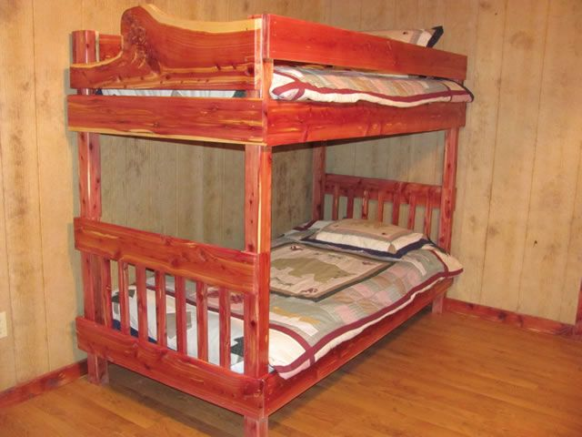 Log Furniture Cedar Log Beds By Cedar Bluff Furniture Bunk Beds