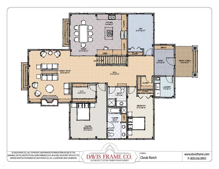 Small Open Floor Plans For Classic Ranch Style Homes Floor Plans Barn House Plans Ranch Style House Plans
