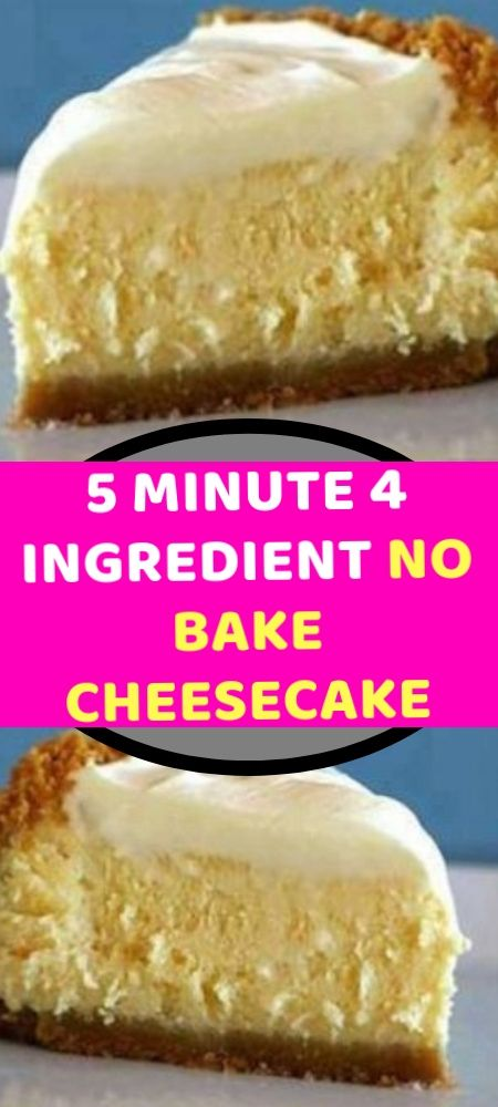5 Minute 4 Ingredient No Bake Cheesecake Cool Whip Cheesecake Recipe Easy Cheesecake Recipes Whipped Cheesecake Recipe