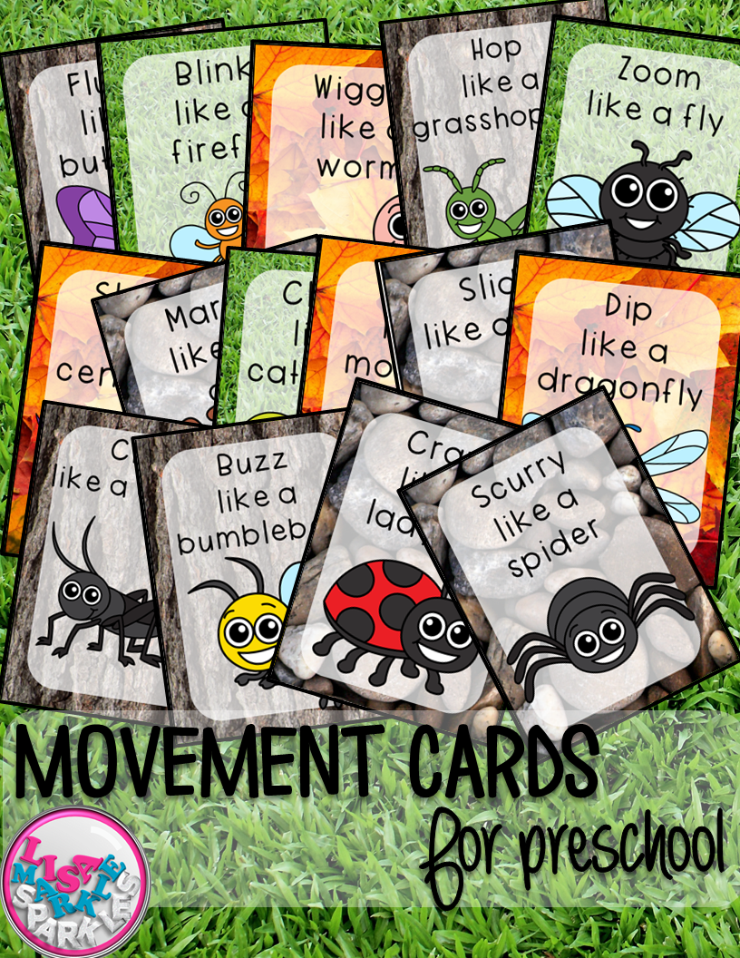 Bugs and Insects Movement Cards for Preschool and Brain Break ...
