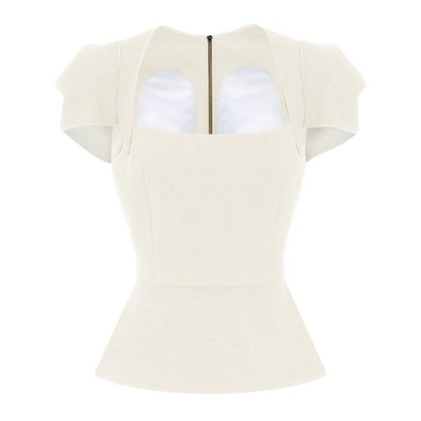 White Galaxy Designer Top | Galaxy Collection - Roland Mouret (€1.040) ❤ liked on Polyvore featuring tops, roland mouret top, galaxy top, galaxy print top, roland mouret and white top