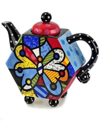 Britto Butterfly Teapot Available at: www.always-forever.com