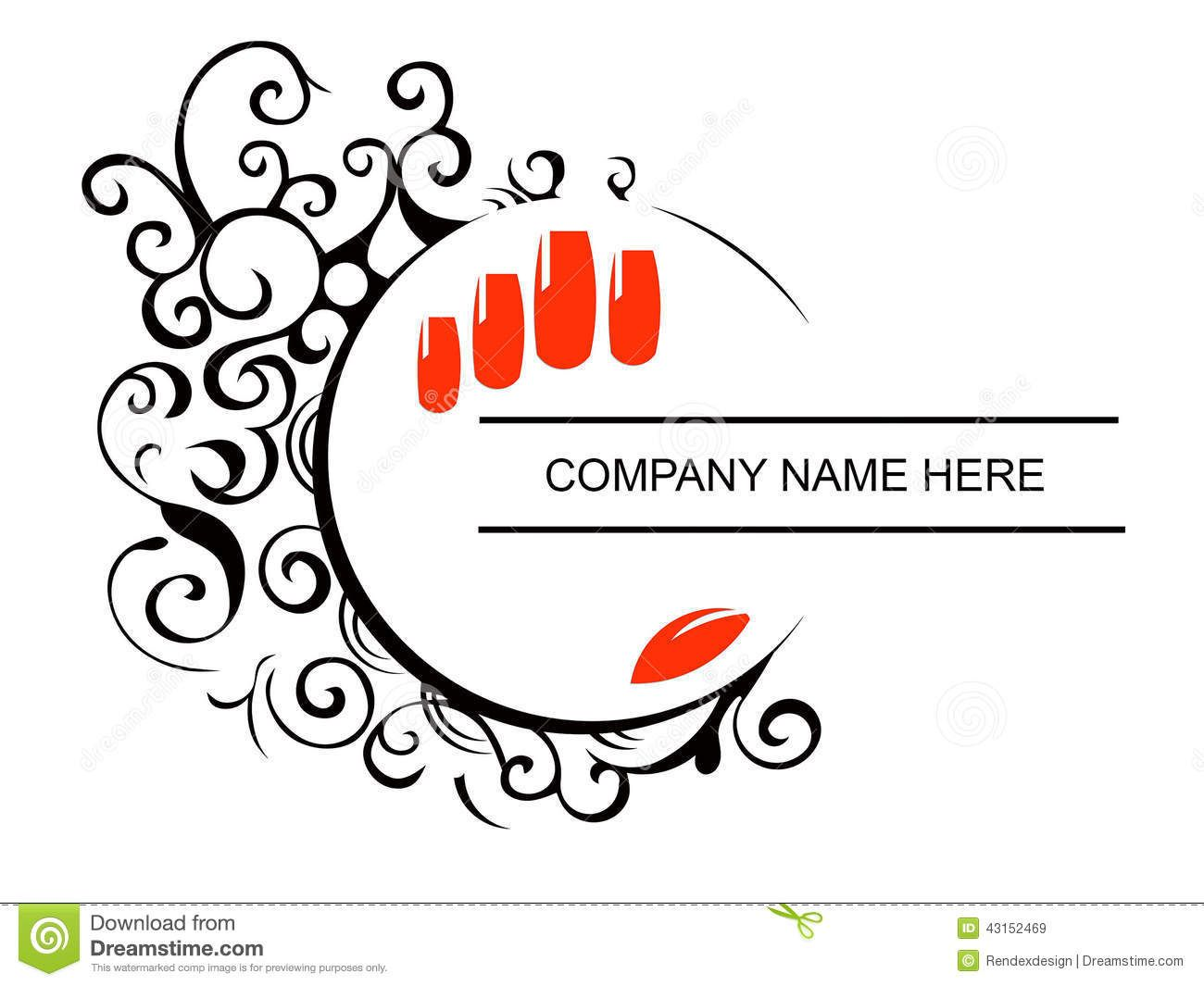 Nails Salon Logo Stock Vector Image 43152469 Salon