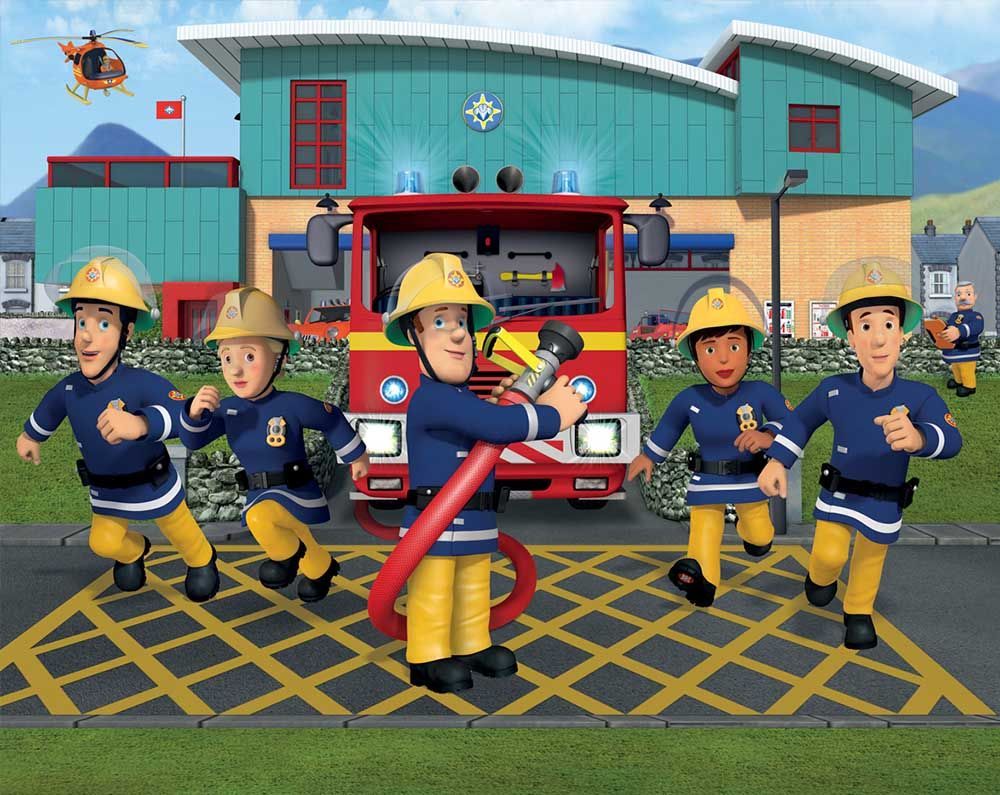 Behang Dutch Wallcoverings Walltastic Fireman Sam 43770.