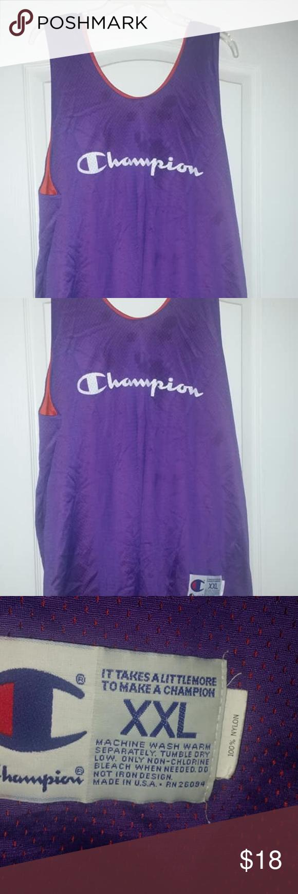 Reversible Champion Jersey Lightly worn basketball jersey