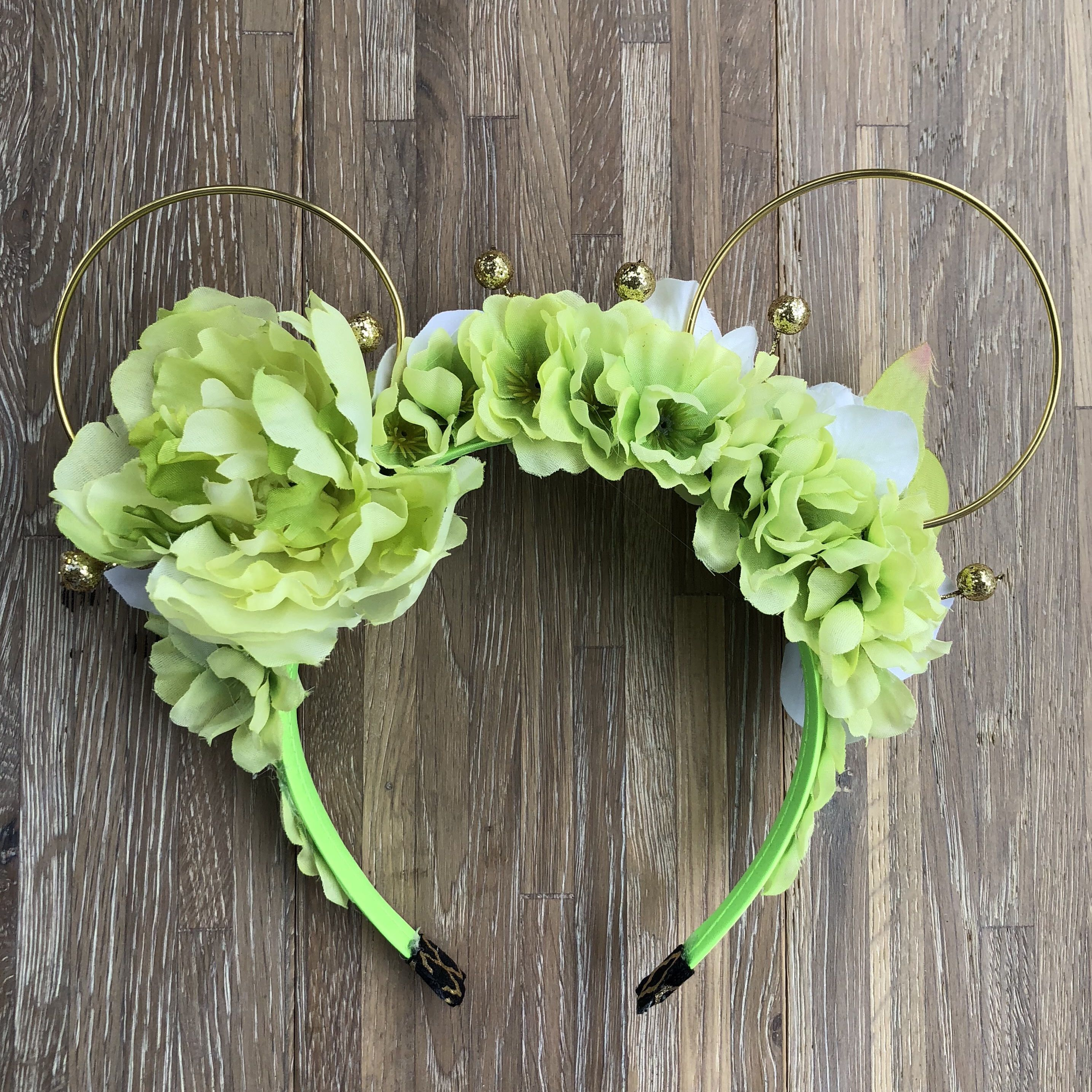 Faith trust and pixie dust tinkerbell inspired wire flower tinkerbell inspired wire flower crown mickey ears for disney aspoonfulofextra disneyworld flowercrown minnieears disneyprincess izmirmasajfo