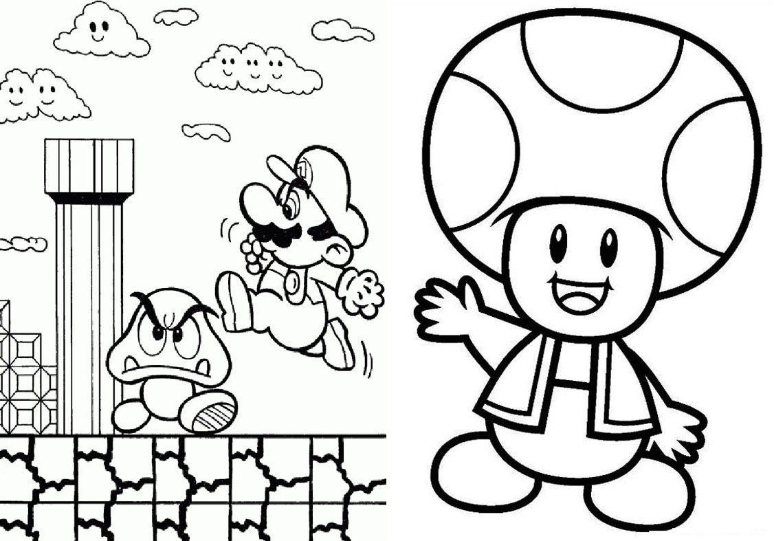 Livrinho Para Colorir Mario Bros 2 Em 2020 Mario Bros Mario E