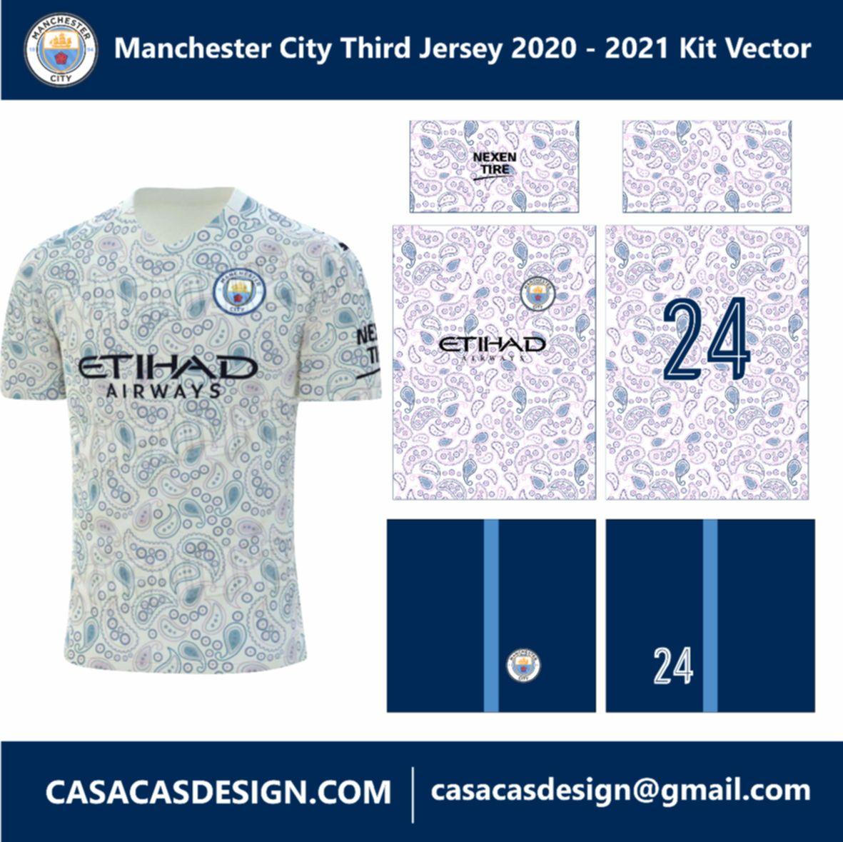 Manchester City Third Jersey 2020 2021 Kit Vector Manchester City Manchester Football Design