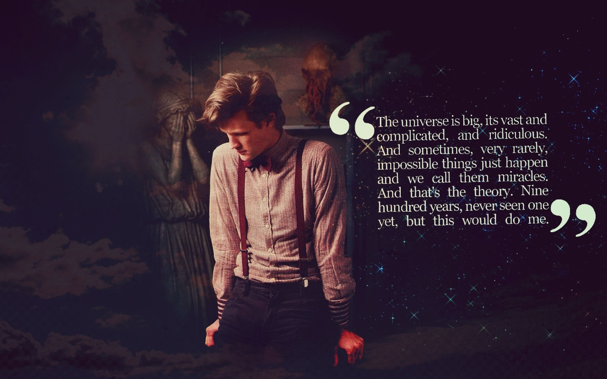 Quotes Matt Smith Eleventh Doctor Who Weeping Angel 1280x800 Wallpaper Art HD