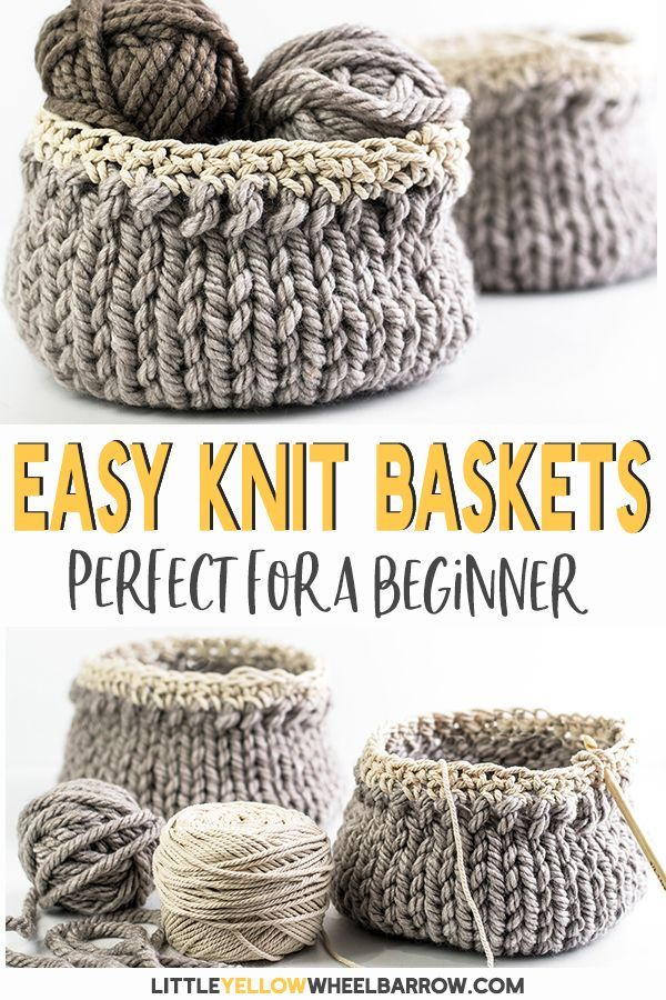 Photo of Free DIY Basket Pattern you can Knit up in a Flash