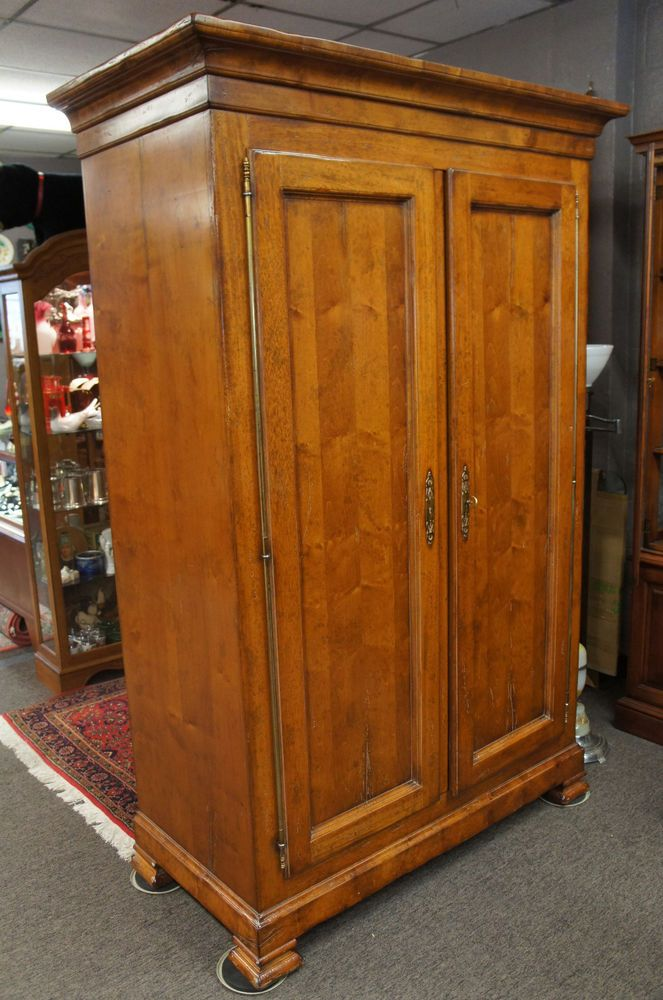 Merveilleux Solid Maple Clothing Armoire Milling Road Baker Furniture Italy Locks  Distressed