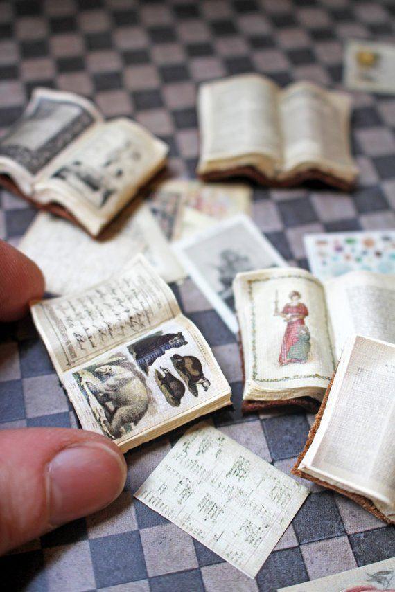 Dollhouse Miniature Open Book DIY Kit & Tutorial --- Makes 80 Books