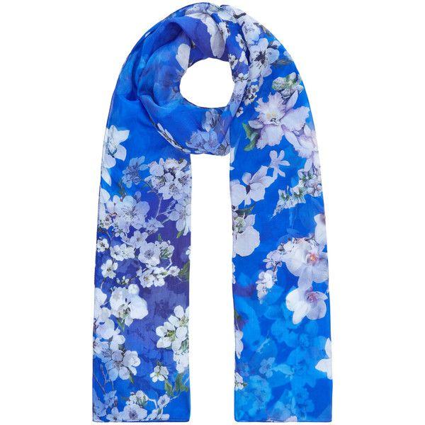 Accessorize Orchid Silk Classic Scarf Classic Scarf Royal Blue Scarf Pure Silk Scarf