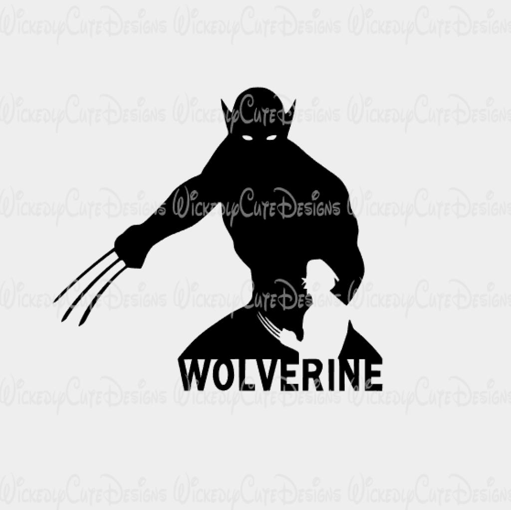 Wolverine Silhouette SVG, DXF, EPS, PNG Digital File