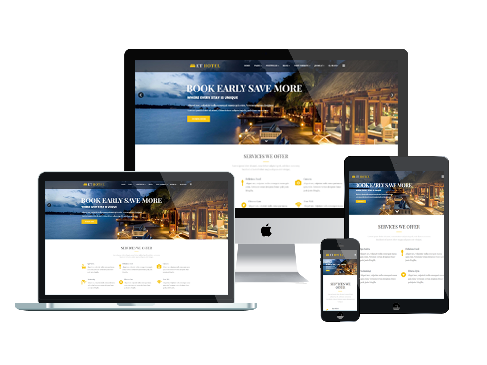 ET Hotel is Responsive Joomla! format that objectives for lodgings ...