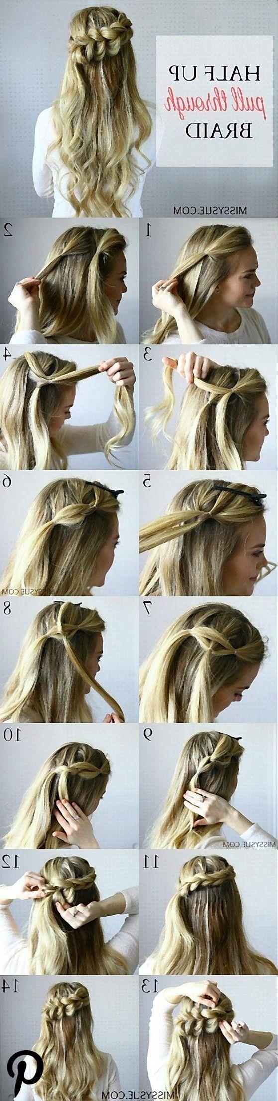Hair Tutorials  Pull through braid Hair Tutorials  Pull through braid