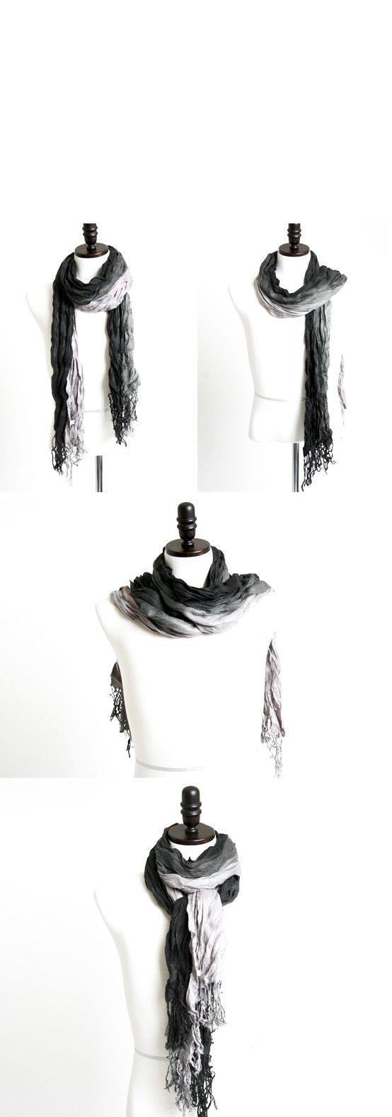 Accessories :: Scarves :: ★SOLD-OUT★ Luxurious Pre-wrinkled Gradation Scarf - 02 - New and Stylish - Fast Mens Fashion - Mens Clothing - Product