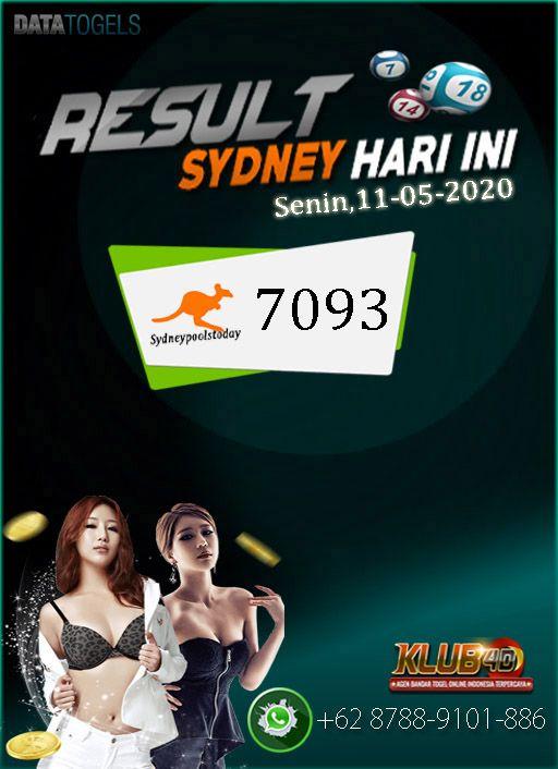 KLUB4D - RESULT SYDNEY HARI INI 11-05-2020 di 2020 | Sydney