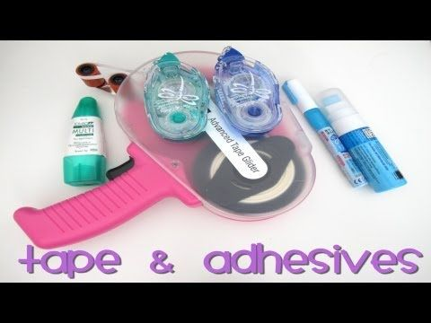 My Favorite Adhesives for Cards and Scrapbooking - YouTube