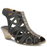 Spring Step L'Artiste Flourish Sandal Black