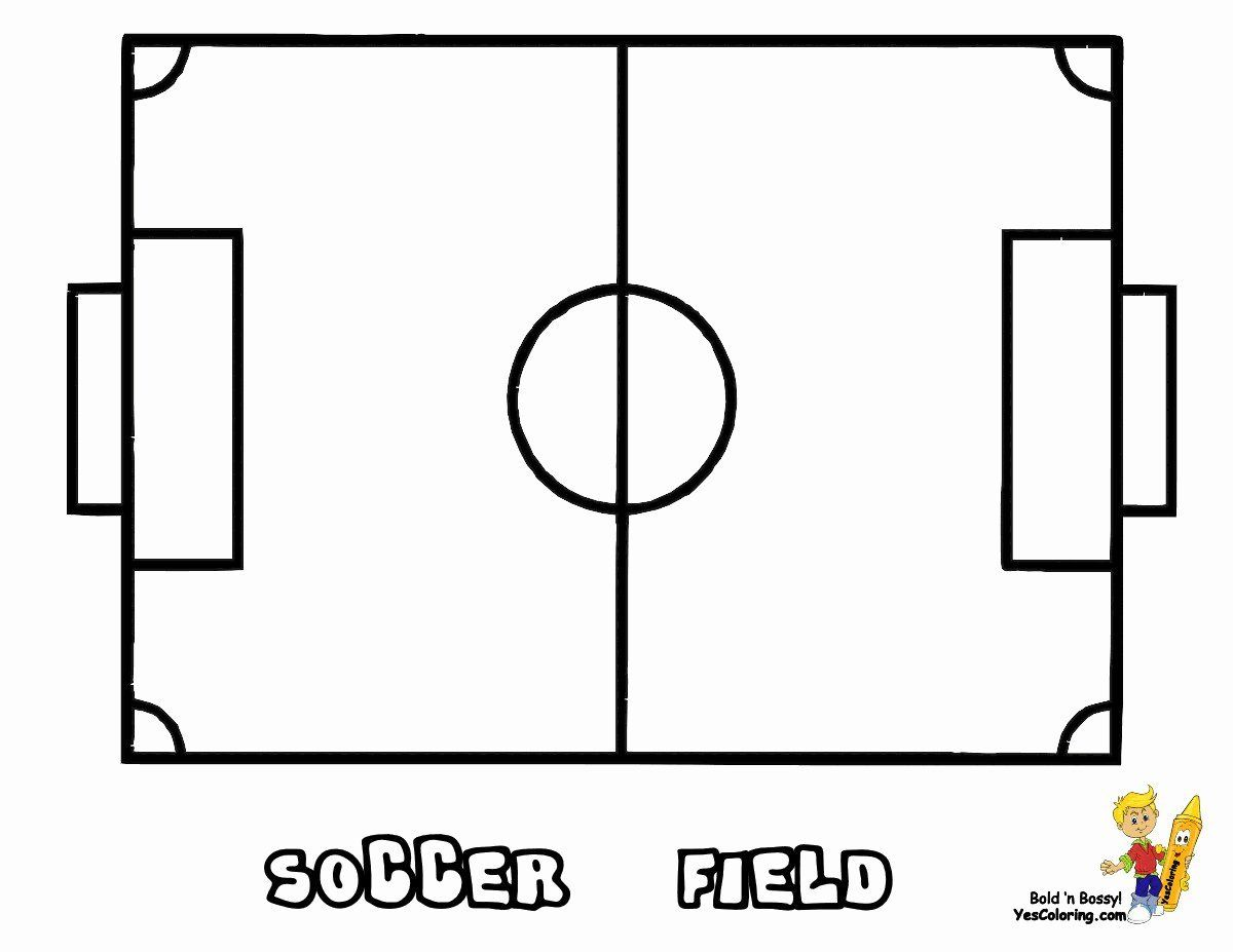 Sports Mandala Coloring Pages Lovely Awesome Soccer Field Coloring