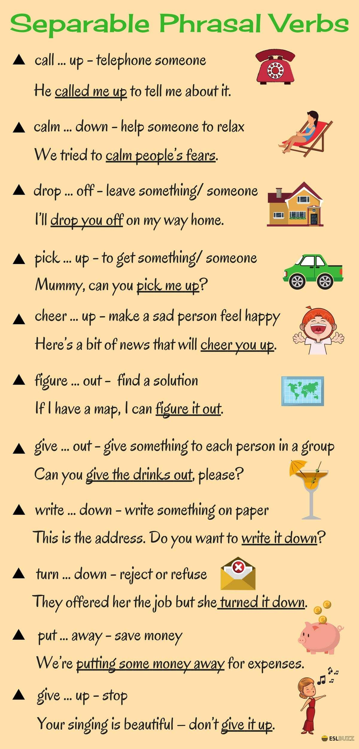 Learn 20 Separable Phrasal Verbs In English Eslbuzz Learning English Learn English English Verbs English Language Learning [ 2500 x 1200 Pixel ]