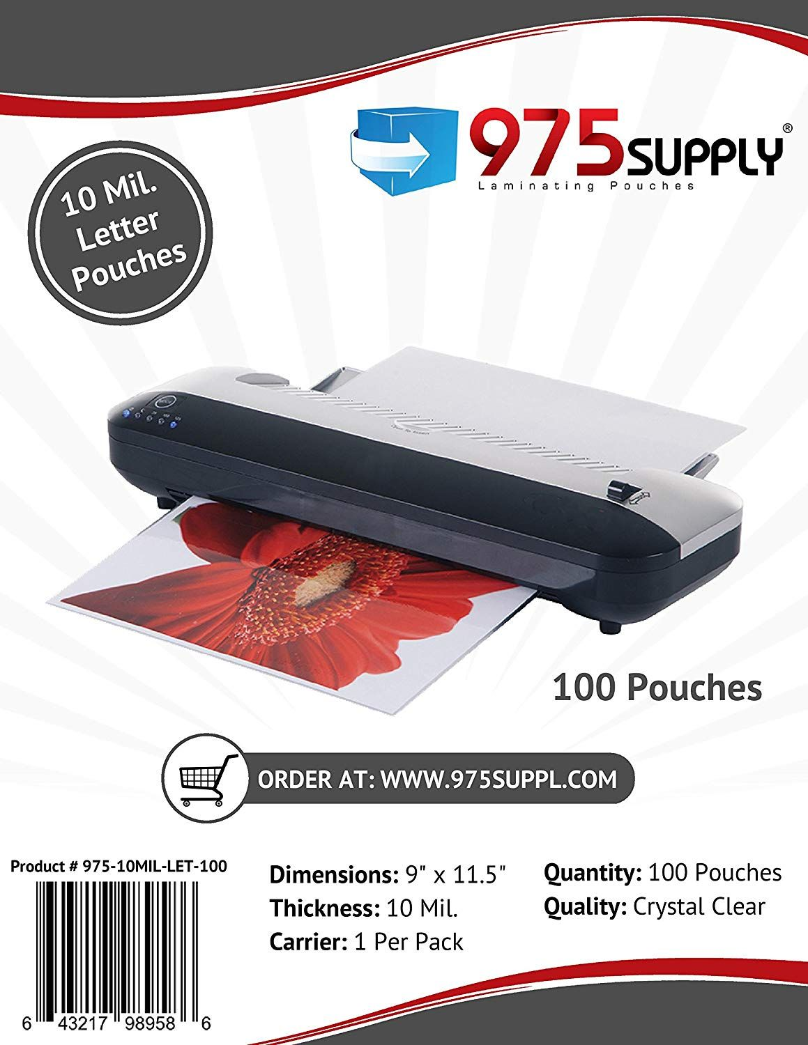 975 Supply 10 Mil Clear Letter Size Thermal Laminating Pouches 9 X 11 5 Inches 100 Pouches Visit The Image Link More In 2020 Glue Crafts Lettering Things To Sell