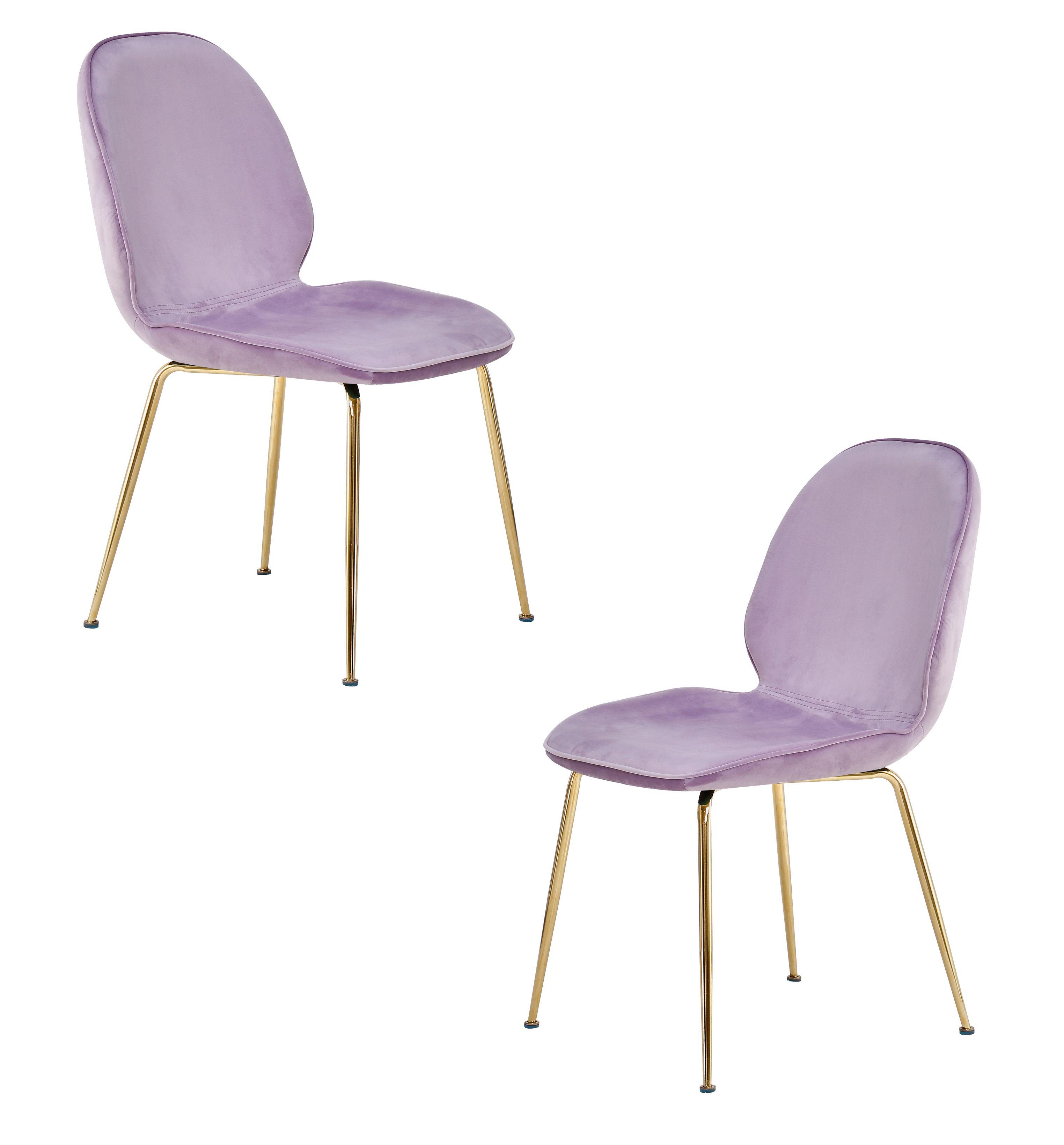 Brilliant Best Master Furniture Tara Lavender Velvet And Gold Dining Short Links Chair Design For Home Short Linksinfo