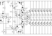 this the circuit diagram of 260 watt power audio amplifier with power  supply circuit capable of delivering up to 260 watt rms at 8 ohms load