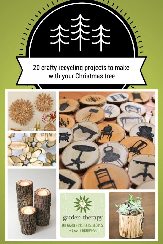 20 Crafty Recycling Projects You Can Make With Your Christmas Tree | Recycled christmas tree ...