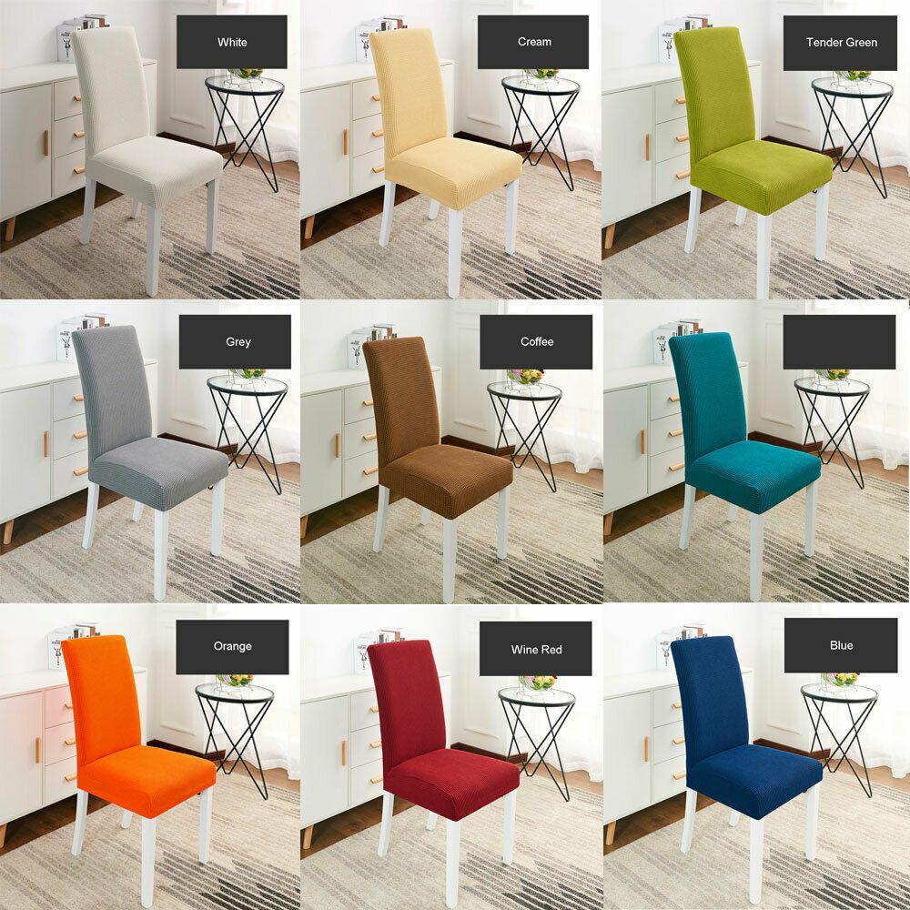 Ebay Sponsored 1 4 6 Pcs Stretch Chair Cover Soft Spandex Wedding
