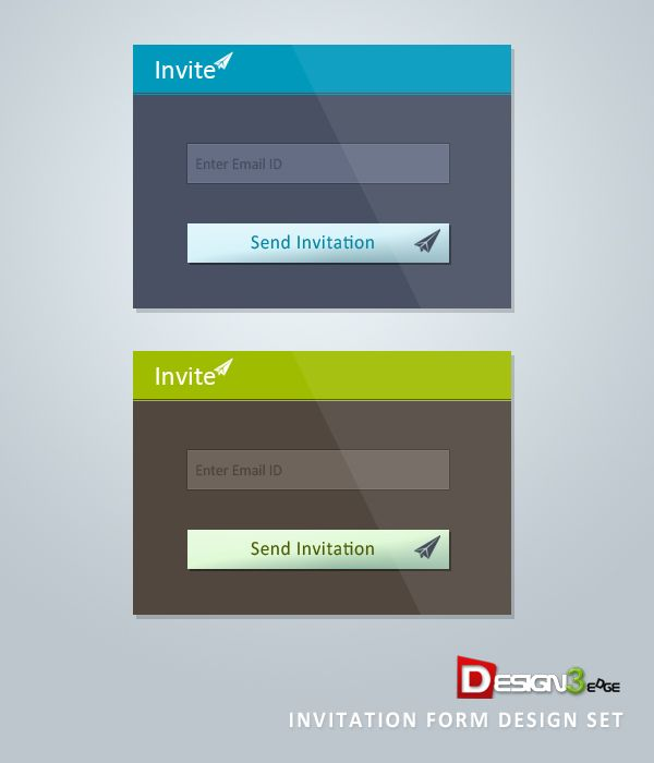 Invitation #Form #Design Set, #Buttons, #Free, #PSD, #Resource - invitation forms