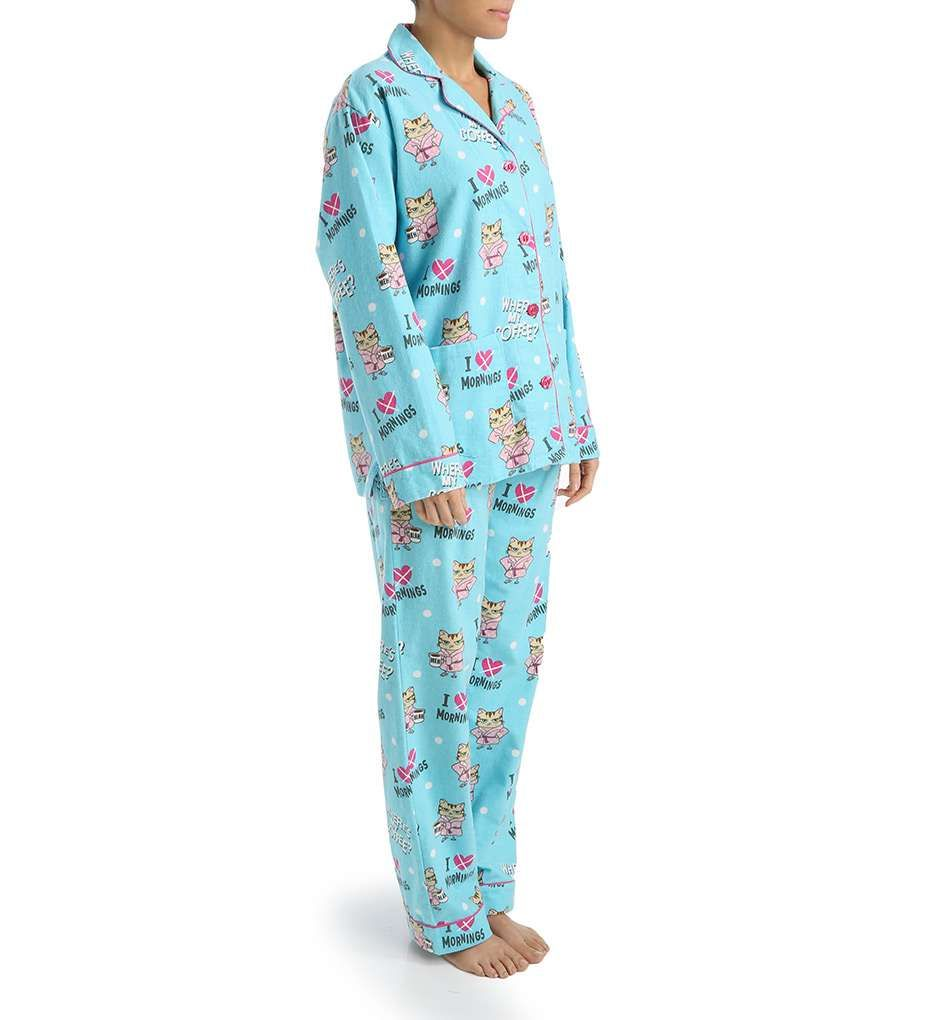 Cat PJ's | PJ Salvage Fall into Flannel Angry Cat Pajama Set ...