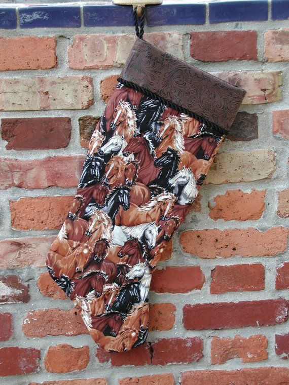 Western Christmas Stockings Personalized.Christmas Horse Stockings Western Christmas Stockings