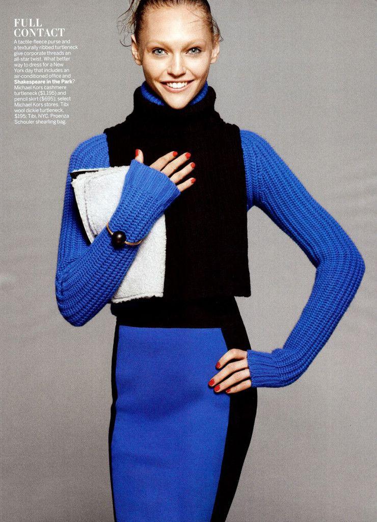 Sasha Pivovarova by David Sims for Vogue July 2013 3