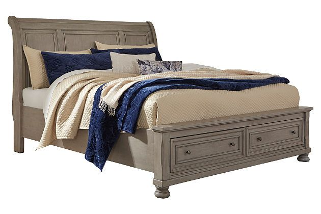 Cali King Sleigh Style Bed Frame With Storage Bed Frame With Storage Bed Frame Furniture