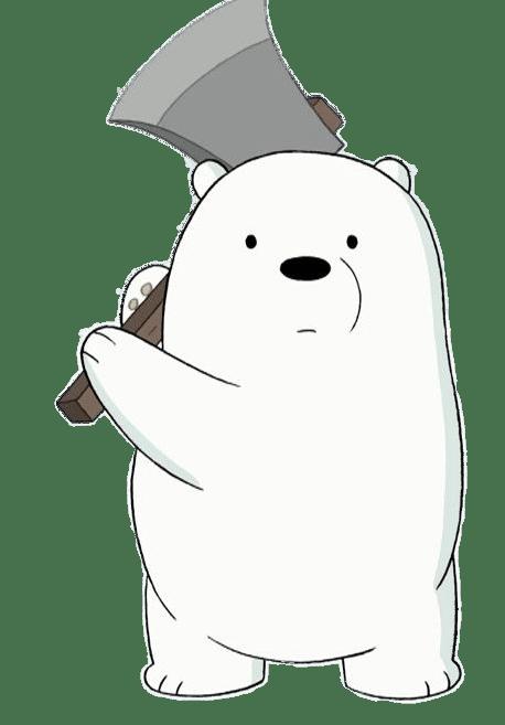 Ice Bear Holding An Axe transparent PNG - StickPNG