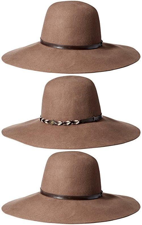 de43a396e13b5 Goorin Bros. Women's Meadow Wool Felt Wide Brim Fedora Hat, Camel ...