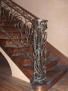 Best Antique Bronze Patina On Forged Steel Elements Hand Rail 640 x 480