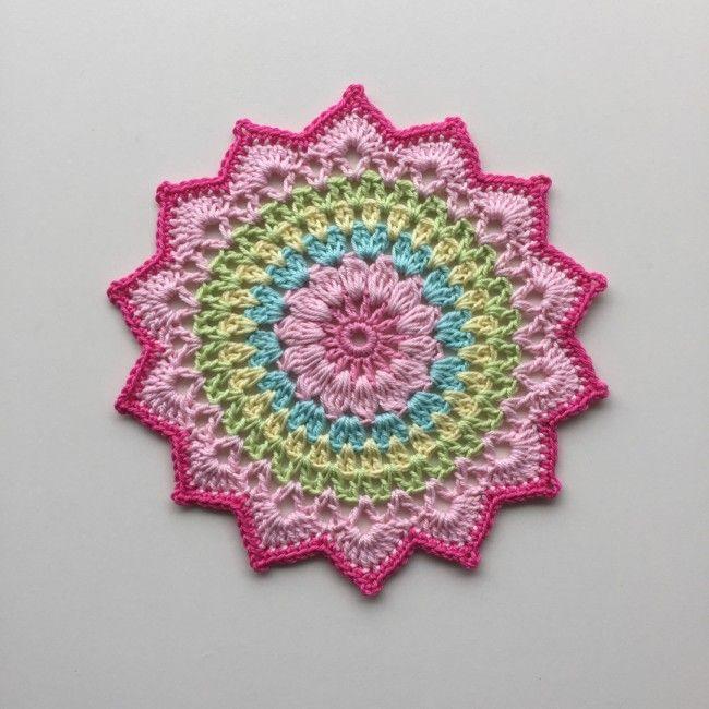 My little Cherry Blossom Mandala. | Crochet blankets/Afghan ...