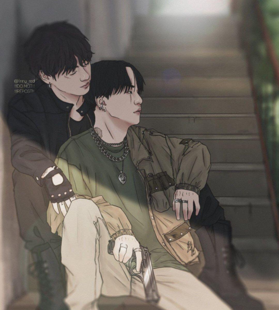 Yoonkook Bts Desenho Meninos Bts Fanart