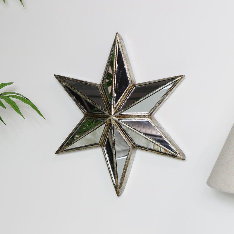 Decorative Star Wall Mirror Art Mirror Art Star Wall Decor