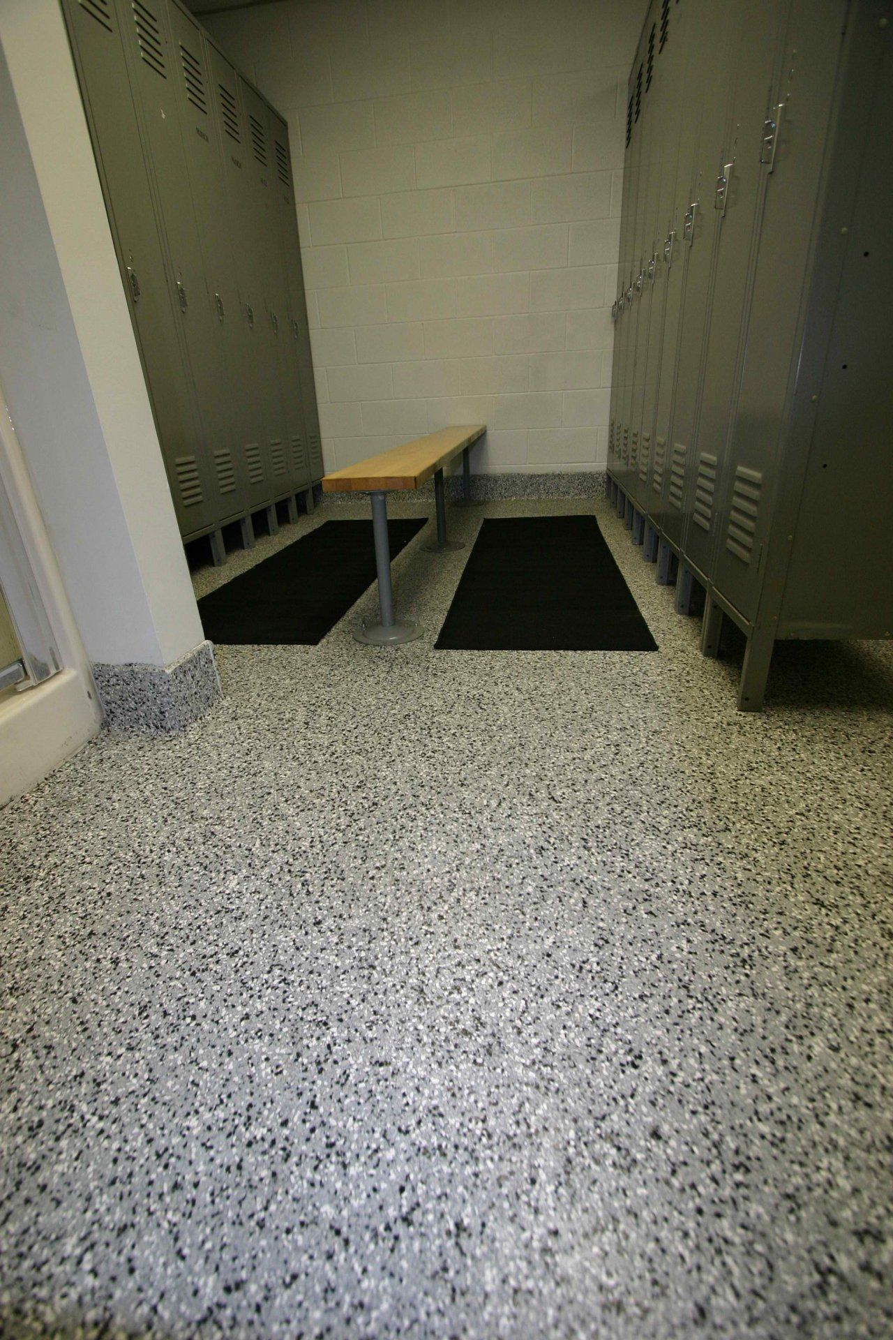 Epoxy Chip Floors Also Work In School Commercial And