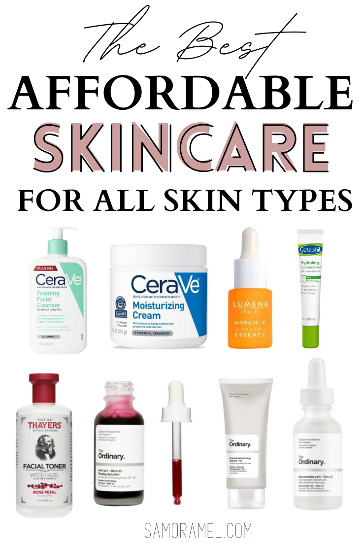 Affordable skincare products I am currently using