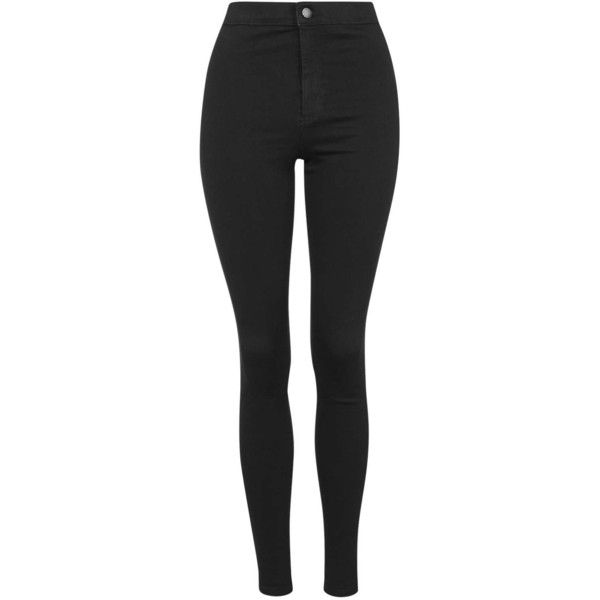 TopShop Petite Hold Power Joni Jeans (535 NOK) ❤ liked on Polyvore featuring jeans, pants, bottoms, calças, pantalones, blue black, high rise jeans, stretch skinny jeans, high waisted stretch skinny jeans and stretch jeans
