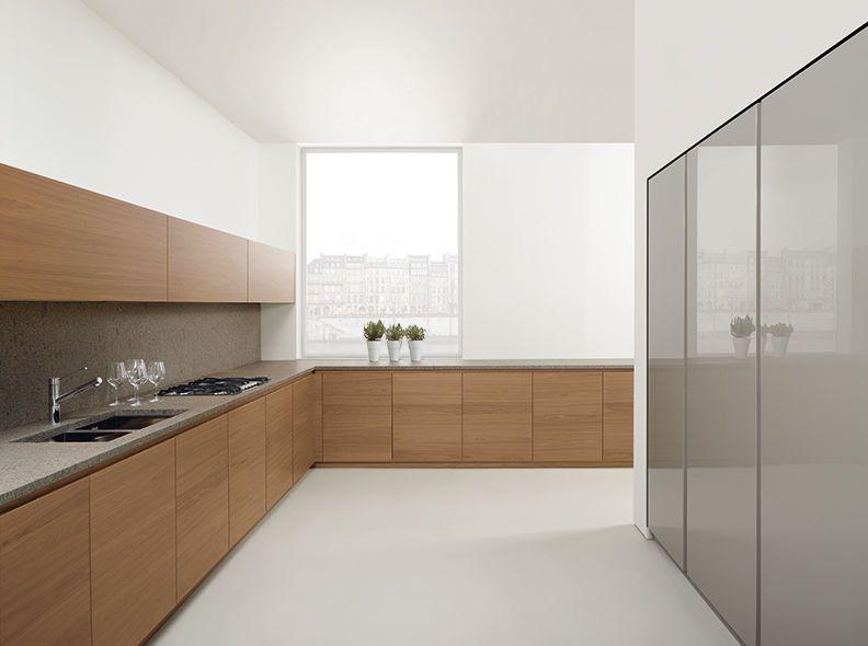 moderne küche / holzfurnier / lackiert 023 mk cucine | kuechen ... - Cucine Mk