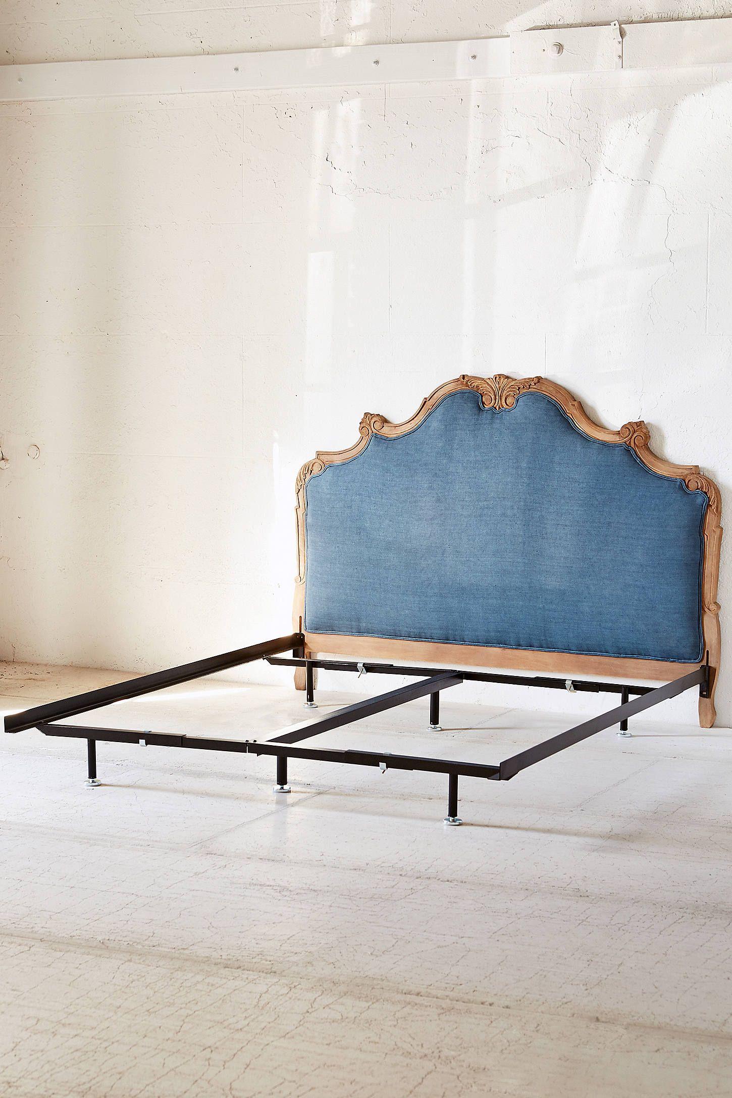 Basic Metal Bed Frame In 2020 Denim Furniture Bedroom Layouts